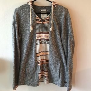 Roxy Zip-up sweater hoodie size large